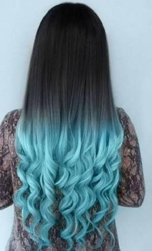 balayage azul